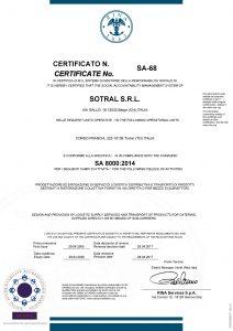 SA8000 Sotral azienda trasporto pasti