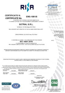 ISO 14001:2015 - Sotral S.r.l.